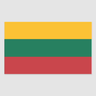 Pegatina Rectangular Bandera lituana