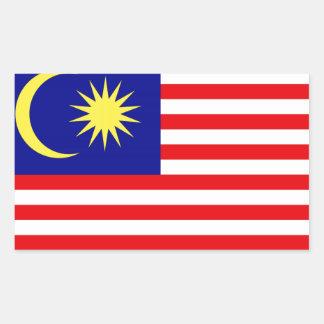 Pegatina Rectangular Bandera malasia