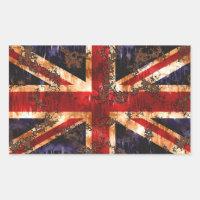 Bandera patriótica aherrumbrada de Reino Unido