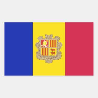 Pegatina Rectangular Bandera patriótica de Andorra