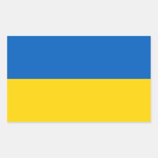 Pegatina Rectangular Bandera ucraniana