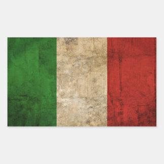 Pegatina Rectangular Banderas de país apenadas el | Italia