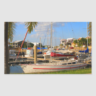 Pegatina Rectangular Barcos en el puerto deportivo, Darwin, Australia