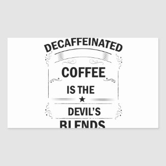 Pegatina Rectangular bebida divertida del café