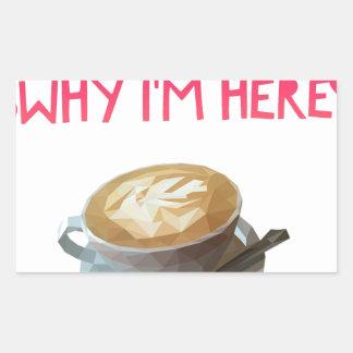 Pegatina Rectangular Beca bebida anónima del AA del café