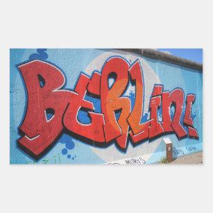 Pegatina Rectangular Berlín