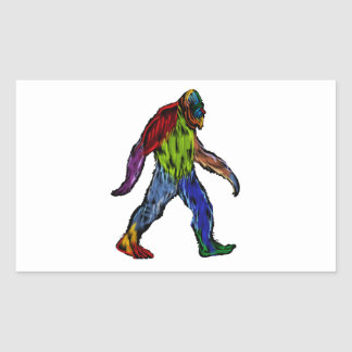 Pegatina Rectangular Bigfoot en grande