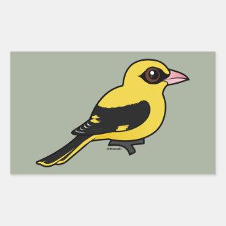 Pegatina Rectangular Birdorable Oriole de oro eurasiático