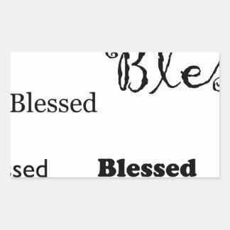 Pegatina Rectangular Blessed11