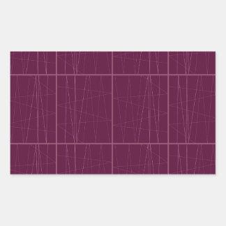 Pegatina Rectangular Bloques del chocolate del ethno del diseño