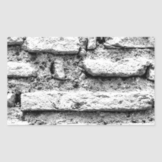 Pegatina Rectangular Brickwall rústico