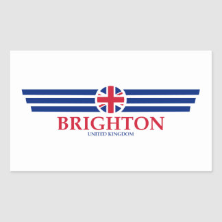 Pegatina Rectangular Brighton