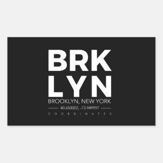Pegatina Rectangular Brooklyn