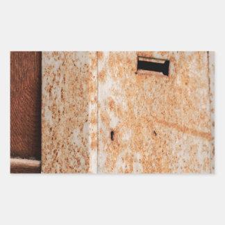 Pegatina Rectangular Buzón oxidado al aire libre