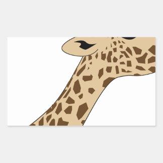 Pegatina Rectangular Cabeza de la jirafa