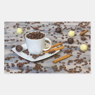 Pegatina Rectangular Café y especias