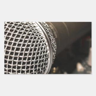 Pegatina Rectangular Canto del cable de micrófono del cable del
