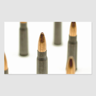 Pegatina Rectangular Cartucho 7.62x39 de AK47 de la bala de la munición