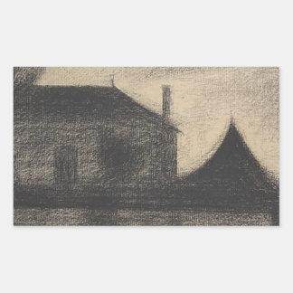 Pegatina Rectangular Casa en la oscuridad (La Cité)