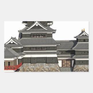 Pegatina Rectangular Castillo japonés clásico