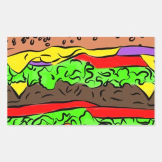 Pegatina Rectangular Cheeseburger