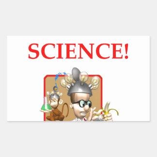 Pegatina Rectangular científico enojado