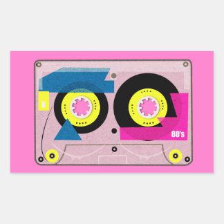 Pegatina Rectangular cinta de la mezcla de los años 80
