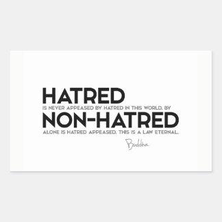 Pegatina Rectangular CITAS: Buda: Odio, no-odio