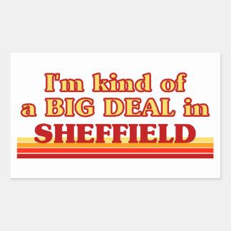 Pegatina Rectangular Clase de I´m de una gran cosa en Sheffield