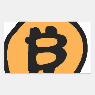 Pegatina Rectangular colección del bitcoin