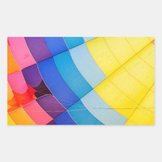 Pegatina Rectangular Colorido abstracto