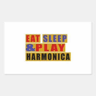 Pegatina Rectangular Coma la ARMÓNICA del sueño y del juego