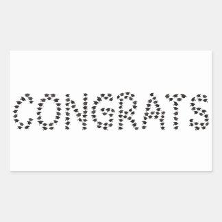 Pegatina Rectangular Congrats al graduado