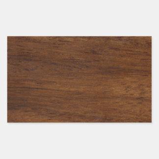 Pegatina Rectangular Construcción rugosa de la textura de madera