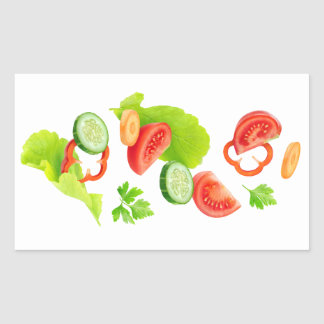 Pegatina Rectangular Corte las verduras