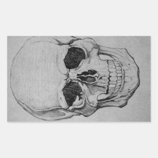 Pegatina Rectangular cráneo