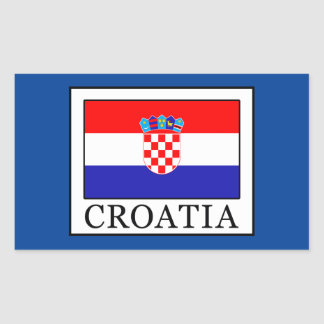 Pegatina Rectangular Croacia
