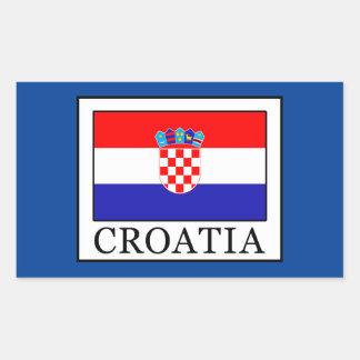 Pegatina Rectangular Croacia