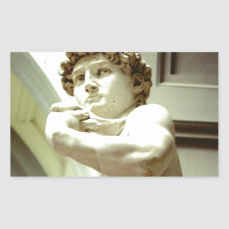 Pegatina Rectangular David - la imagen eterna de Florencia