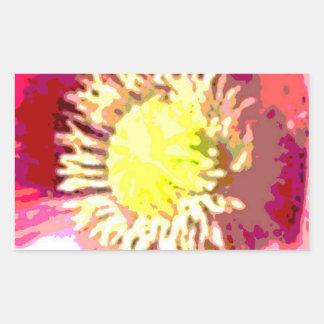 Pegatina Rectangular Decoración floral de STBX para el regalo, saludos,