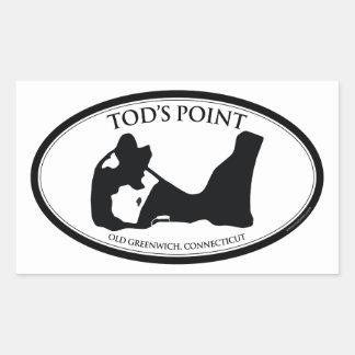 Pegatina rectangular del punto de Tod's