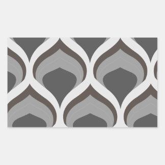 Pegatina Rectangular descensos geométricos grises