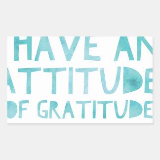 Pegatina Rectangular Detox AA de la recuperación de la gratitud de la
