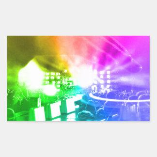 Pegatina Rectangular Dios es DJ
