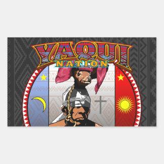 Pegatina Rectangular Diseño del bailarín de los ciervos de Yaqui Yoeme