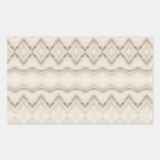 Pegatina Rectangular Diseño tribal del modelo de zigzag de la pluma