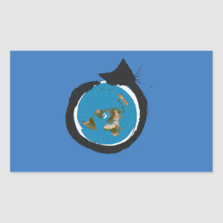 Pegatina Rectangular Diseños planos de la tierra - OBRA CLÁSICA del