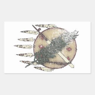 Pegatina Rectangular Dreamcatcher descolorado