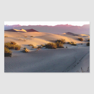 Pegatina Rectangular Dunas de arena planas del Mesquite Death Valley