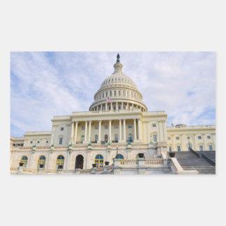 Pegatina Rectangular Edificio de Capitol Hill en Washington DC